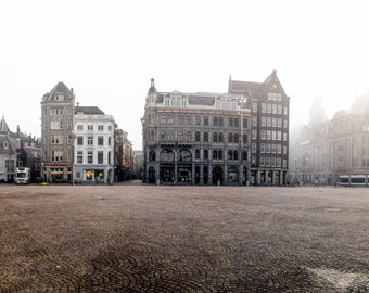 Amsterdam Dam Square, Netherlands, Holland, fine art photo paper print, travel photography, city
