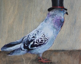 Pigeon in Top Hat