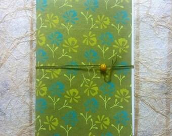 Green tea-Handmade handmade notebook Notebook-Write Me!