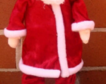 Cloth doll pattern: St. Nick