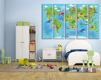 world map for kids kids wall art kids world map kids map map canvas world map print map wall art nursery world map nursery map map for kids