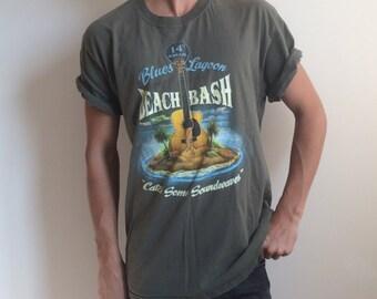 Vintage Blue Lagoon Beach Bash Tee - L