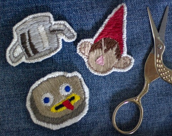 Over the Garden Wall handmade patches