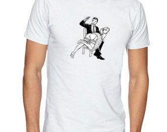 Spanking tee, Kinky t-shirt, Fetish t shirt, BDSM tshirt. Mens t-shirt, gift for men. Kinky tee, fetish tee, apparel clothing by FET.tees.