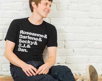 Roseanne Mens Tshirt, Screenprinted Tshirt, Black Tshirt, TV Family