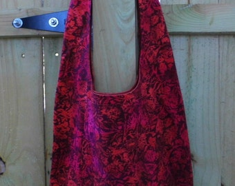 Hobo Sling Bag - Red Batik