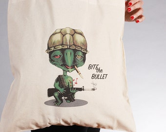 Bite the Bullet Tote Bag