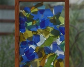 Sun Catcher Freestanding Sea Beach Stained Glass Kaleidoscope Suncatcher