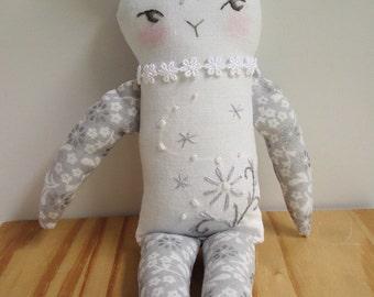 OOAK Tattooed Embroidered pet Li Rabbit doll