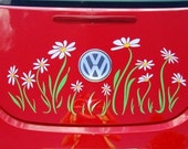 Daisy Flower Decal sticker graphics for VW Beetle--Trunk Only