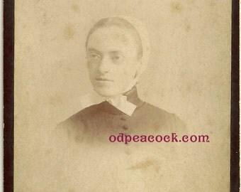 Sly Anabaptist Hester Prynne Scarlet Letter Mennonite vintage photo bonnet glass