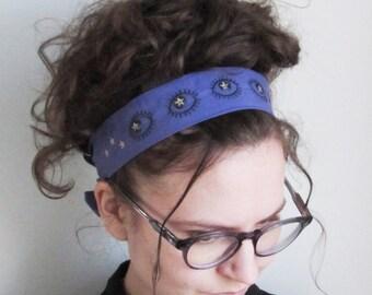 Stargazer organic cotton tie-on headband
