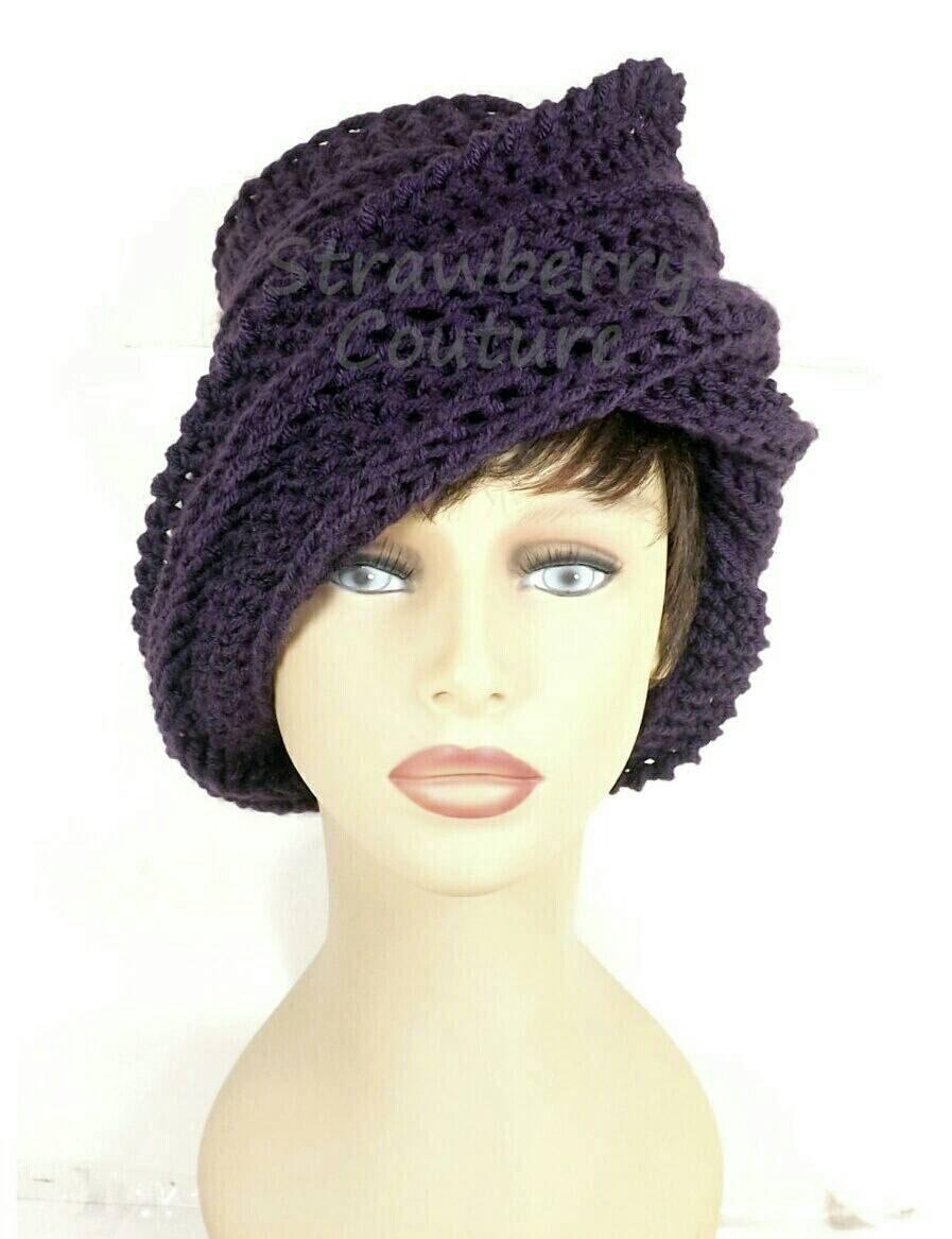 womens crochet hat womens hat trendy steunk hat