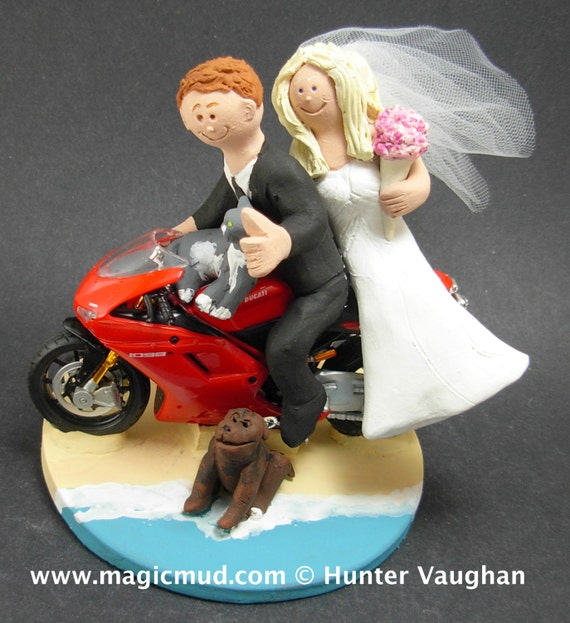 motorcycle wedding cake toppers unique ducati sportbike motorcycle wedding cake topper motorcycle 17617