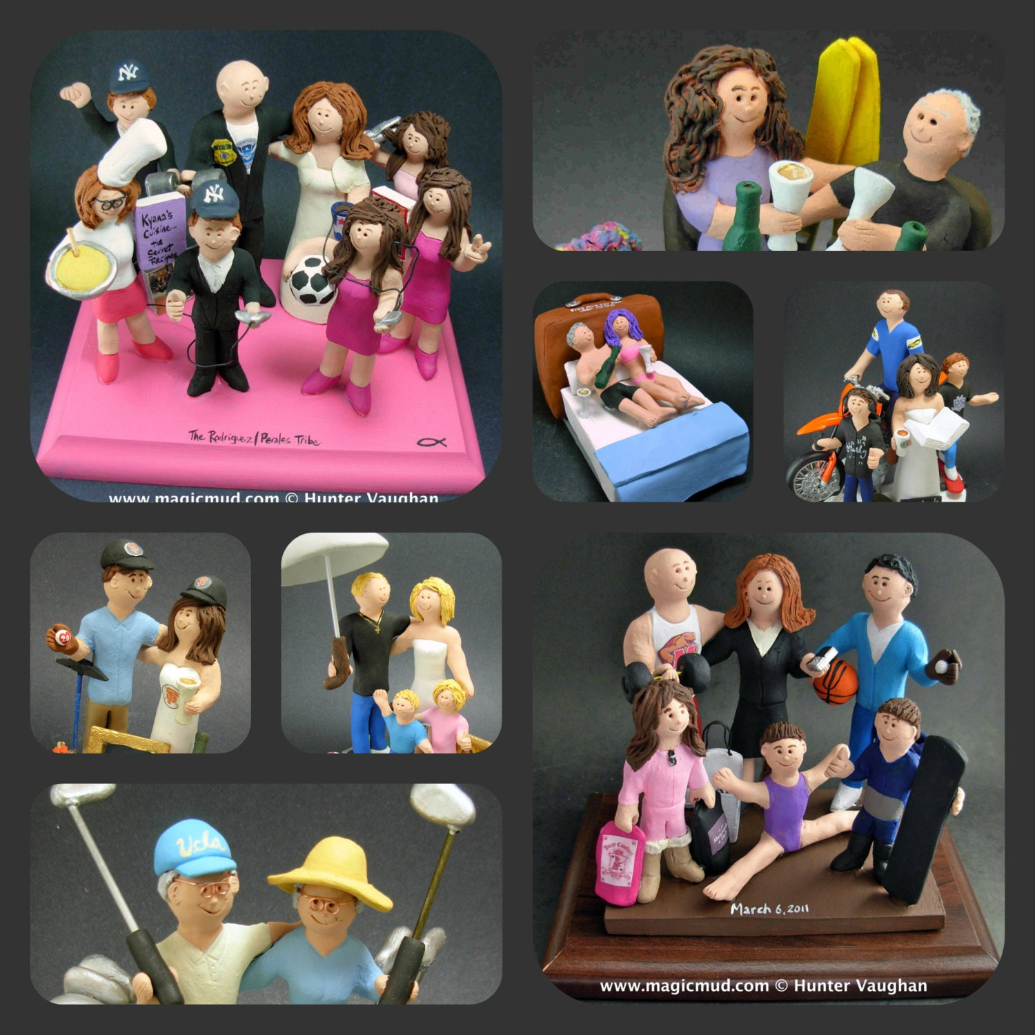 Family Cake Toppers Custom Made Blended Family Wedding Cake