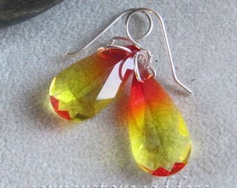 Swarovski Candy Corn Halloween Earrings EHAG