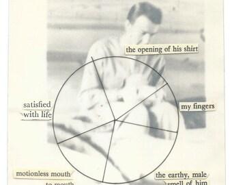 Vintage portrait photography piechart poem | Original fine art collage