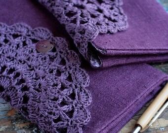 Linen Crochet Hook Case - Holder - Organizer