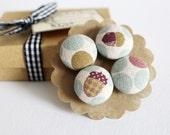 Handmade Linen Magnets- Set of Four