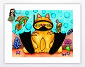 Reserved For Ashley - Custom Order - Tabby Cat Art