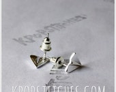 Dainty paper airplane Earrings Tiny Lightweight Post Back stud Earring Cute one direction