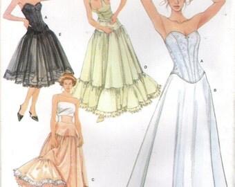 Simplicity 5006 CORSET & PETTICOATS LINGERIE Andrea Schewe Sizes 14, 16, 18, 20 for Costumes, Bridal ©2004