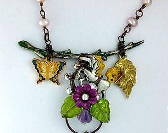 Unicorn Statement Necklace, Unicorn Forest Jewelry, Enchanted Unicorn Pendant, Unicorn Fantasy Necklace, Elegant Unicorn Jewelry, Gift Ideas