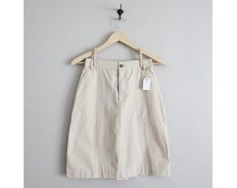 cotton skirt / high waist sort / neutral skirt