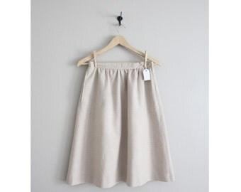 linen skirt / a line skirt / high waist linen skirt