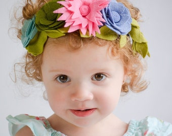Felt Flower Headband / Flower Crown