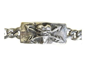 Bound Heart Bracelet    Valentine's Day silver gold jewelry sacred heart