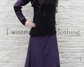 Goth Hooded Striped Shrug ~ Gothic ~ Boho ~ Pastel ~ Fae ~ Sizes 6 to 30 ~