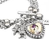 Paris Jewelry, Paris Bracelet, Eiffel Tower Jewelry, French Charm Bracelet, Eiffel Tower Charm