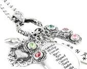 Personalized Grandma Necklace - Grandmother Necklace - Personalized Grandmother Gift - Mother's Day Gift for Grandma - Birthstones