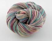 Wonder Sock yarn -  Dinner Mint- 465 yards 100 grams- 72/25 Superwash Blueface wool and Nylon