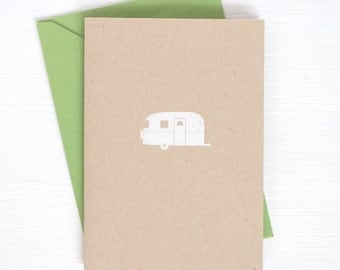 kraft AIRSTREAM folded notecards