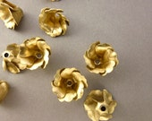 6 Brass Flowers with Six Petals