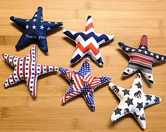 Patriotic Fourth of July  Large Star Bowl Filler Ornament Decorations