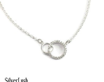 NEW Interlocking Infinity CZ Jewelry - Wedding - Bridesmaid - Gift for the Bride