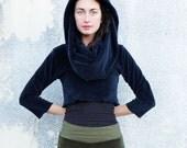 ORGANIC VELOUR Super Cowl Bralette (organic cotton velour ) - organic dress