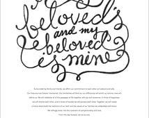 I Am My Beloved's Ketubah Marriage Certificate