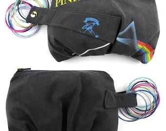 Pink Floyd Dark Side of the Moon Vintage T-Shirt Bracelet Purse