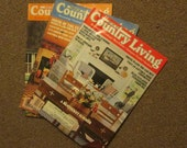 Vintage Country Living Magazines - 1990