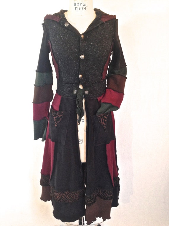 Elven Fairy Coat S Upcycled Sweater Coat
