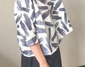 Grey Hands Palmistry Print Linen Shirt