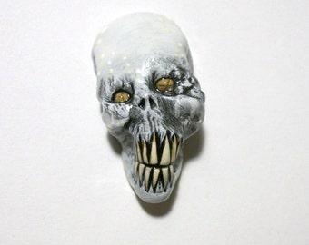 Skull Grin Zombie Head Pendant