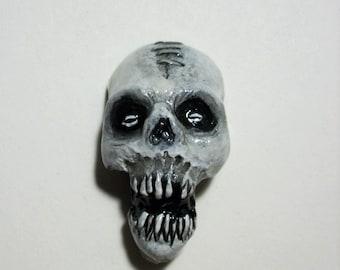 Voodoo Head, Zombie, Shrunken Head, Zombie Head Pendant