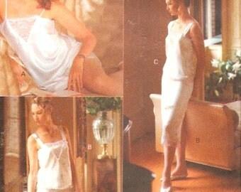 Panties Camisole Slip 80s Vintage Lingerie Sewing pattern Tap pants Vogue 7626 SZ XS to Medium Brides Honeymoon UNCUT