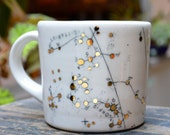 Scorpio & Sagittarius Constellation Map Cup ~ Handmade Porcelain Cup with Screenprinted Map