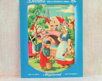 Vintage Meyercord Decal - Dutch Scene - NOS